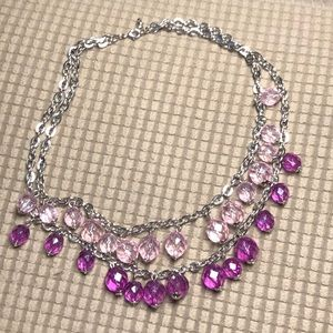 White House Black Market Purple Necklace